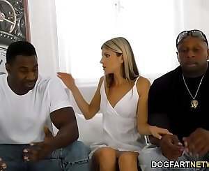 Office Girl Gina Gerson Gets DP'd By Big Black Sensitive