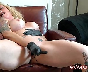 A Whip, Rubber Riot Baton and an Oiled Ava Marxxx, OH MY