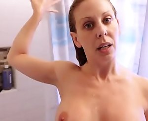 Mom Catches Son Spying on her in Shower Sucks his Cock
