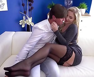 MOM Hot Scottish blonde Georgie Lyall sloppy oral pleasure and doggy